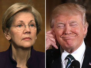 Trump: Elizabeth Warren Running for President in 2020 'a Dream Come True' - Breitbart