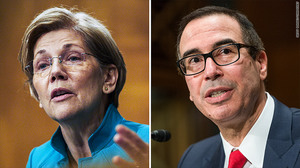 Elizabeth Warren and Steven Mnuchin go at it over breaking up big banks