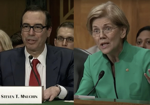 Elizabeth Warren Challenges Steven Mnuchin Over Bizarre Glass-Steagall Remarks (Video)