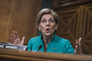 Elizabeth Warren Slams 'Bizarre' Glass-Steagall Statements From Trump's Treasury Secretary (HuffPost)