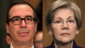 Warren exasperated over Mnuchin's use of Glass-Steagall